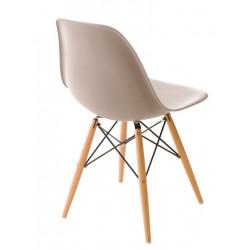 Krzesło P016W PP mild grey, drewniane nogi