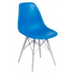 Krzesło P016W PP niebieskie/white