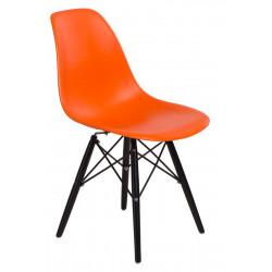 Krzesło P016W PP pomarańcz/black