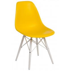 Krzesło P016W PP żółte/white