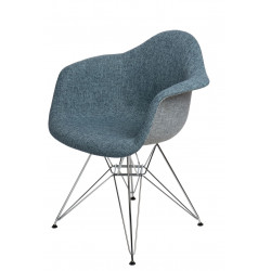 Krzesło P018 DAR Duo niebiesko - szare