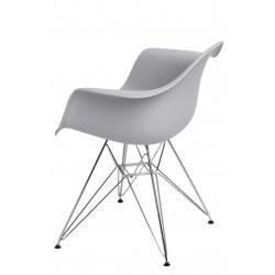 Krzesło P018 PP light grey, chrom nogi HF