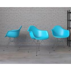Krzesło P018 PP ocean blue, chrom nogi