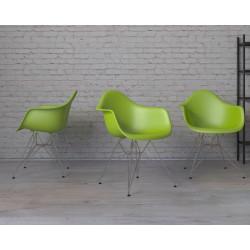 Krzesło P018 PP zielone, chromowane nogi