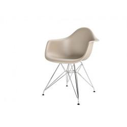 Krzesło P018PP beżowe, chrom nogi HF
