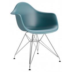 Krzesło P018PP navy green chrom HF