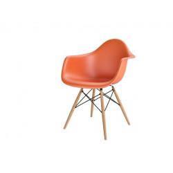 Krzesło P018W PP pomarańczowy, drewniane nogi HF