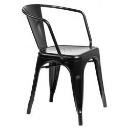 Krzesło Paris Arms czarne inspirowane To lix
