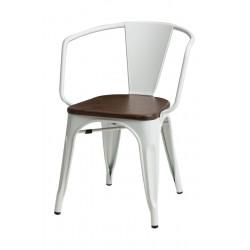 Krzesło Paris Arms Wood białe sosna orze ch