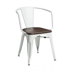 Krzesło Paris Arms Wood białe sosna szcz otkowana