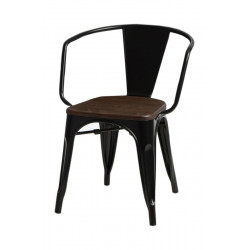 Krzesło Paris Arms Wood czarne sosna orz ech
