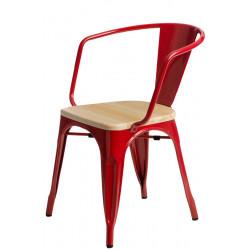 Krzesło Paris Arms Wood czerw. sosna nat uralna