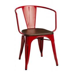 Krzesło Paris Arms Wood czerw. sosna orz ech