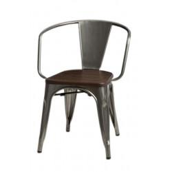 Krzesło Paris Arms Wood metal sosna orze ch