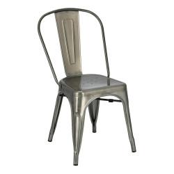 Krzesło Paris metaliczne inspirowa ne Tolix