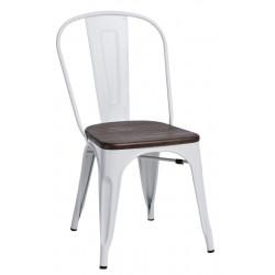 Krzesło Paris Wood białe sosna szczot.