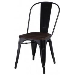 Krzesło Paris Wood czarne sosna szczot.