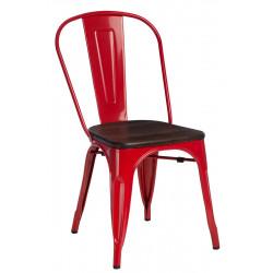 Krzesło Paris Wood czerwone sosna szczot
