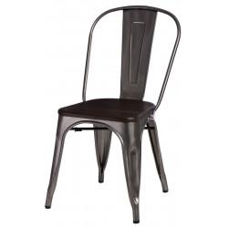 Krzesło Paris Wood metali. sosna szczot.