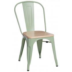 Krzesło Paris Wood zielone sosna natural