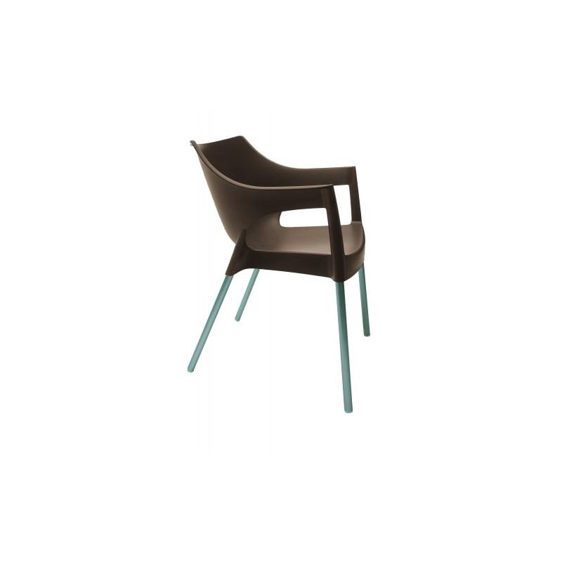 Krzesło Pole brązowy