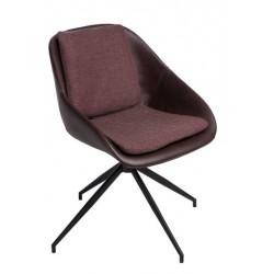 Krzesło Poter Soft obrotowe brązowe ciem