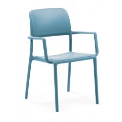 Krzesło Riva z podłokietnikami niebieski e