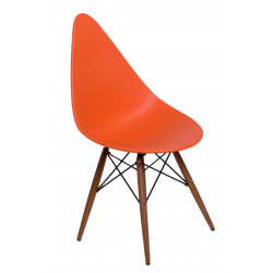 Krzesło Rush DSW pomarańczowe/dark