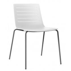 Krzesło Skin 4 białe podstawa czarna
