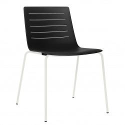 Krzesło Skin 4 czarne podstawa biała