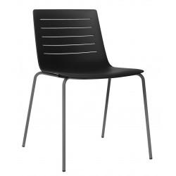 Krzesło Skin 4 czarne podstawa czarna
