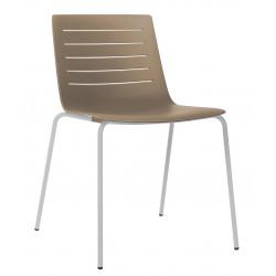 Krzesło Skin 4 czekoladowe podstawa biał a