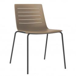 Krzesło Skin 4 czekoladowe podstawa czar na