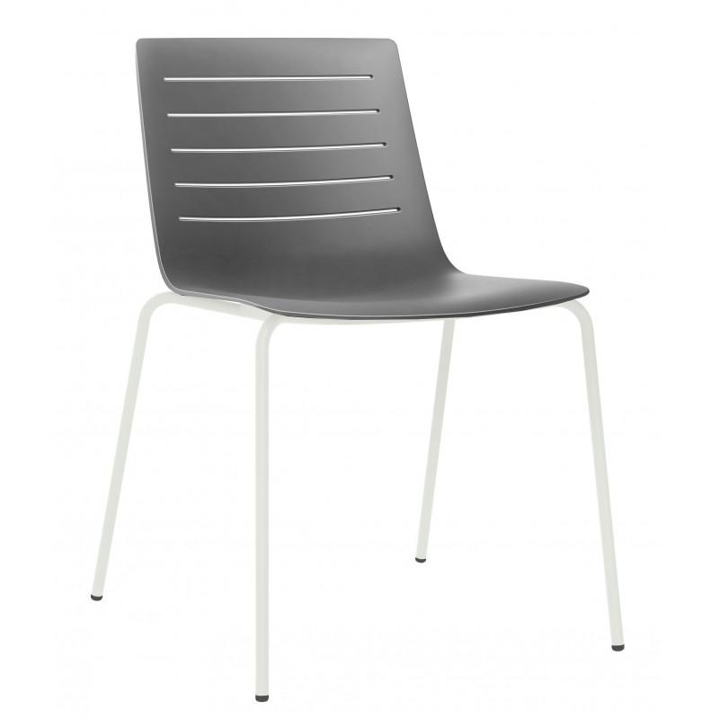 Krzesło Skin 4 szare podstawa biała