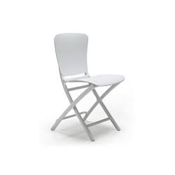 Krzesło składane Zac białe