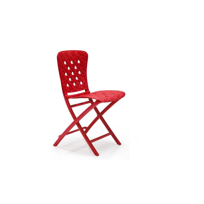 Krzesło składane Zac Spring czerwone