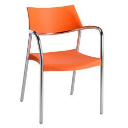 Krzesło Splash pomarańczowe