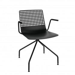 Krzesło Wire Arana czarne z podłokietnik ami