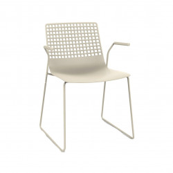 Krzesło Wire Patin beżowe jasne z podłok ietnikami