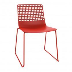 Krzesło Wire Patin czerwone