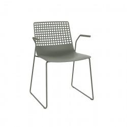 Krzesło Wire Patin szare z podłokietnika mi