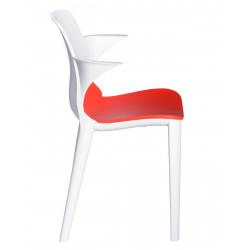 Krzesło z podł. Lyza biało - czerwone