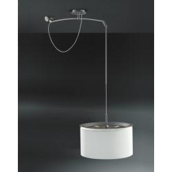 Lampa Finger Mov klosz biały, śr. 45 cm