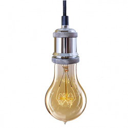 Lampa Industrial Chic Chrom Edison BF02