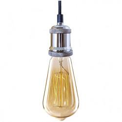Lampa Industrial Chic Chrom Edison BF19