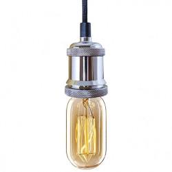Lampa Industrial Chic Chrom Edison BF27