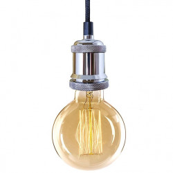 Lampa Industrial Chic Chrom Edison BF81