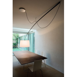 Lampa Robinson klosz biały, śr. 64 cm