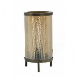Lampa stołowa Tjibe złota/antyczny brąz