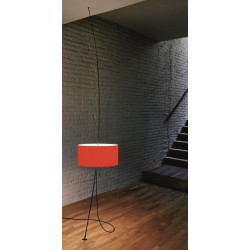 Lampa Totora klosz czerwony, śr. 45 cm